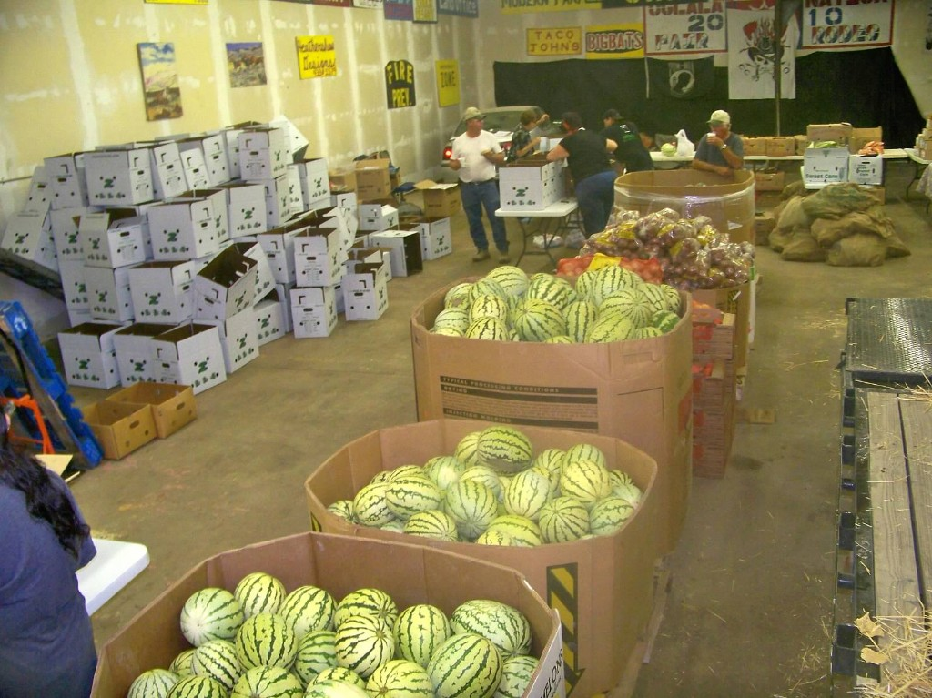 Melons at the garage