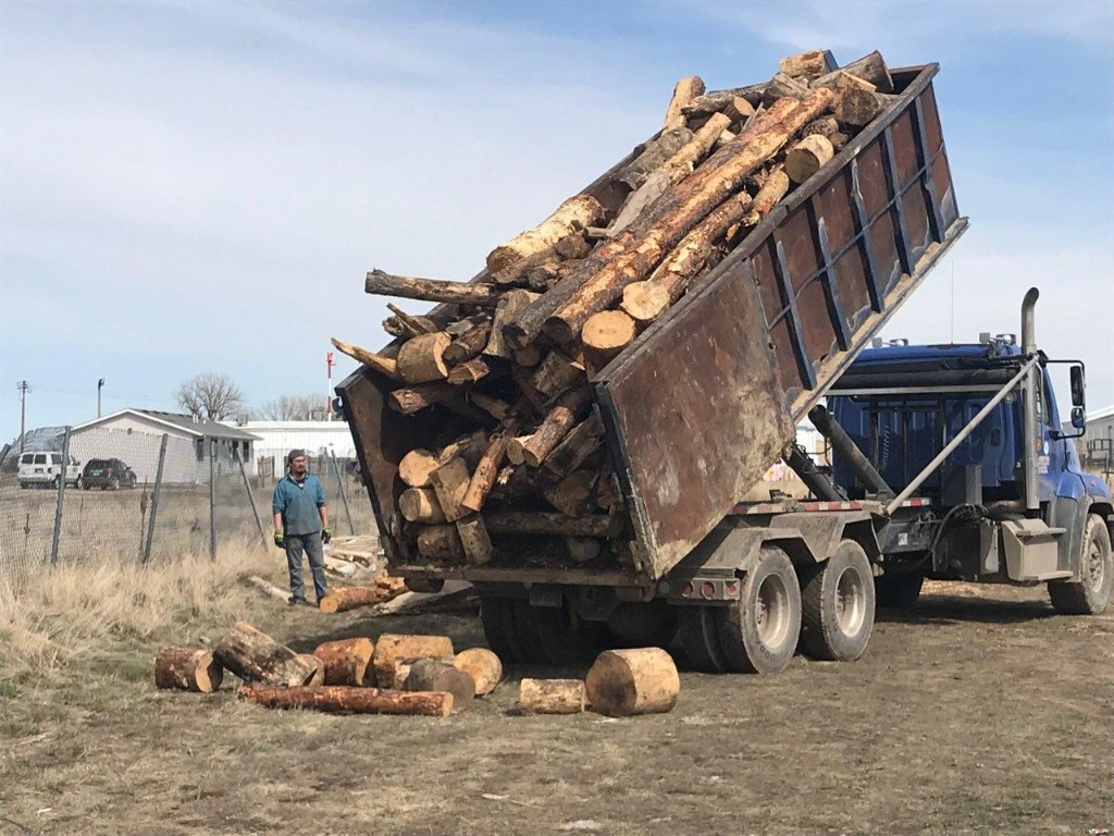 Bringing wood to the Rez